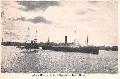 mil051295 - Military Battleship Postcard, Old Vintage Antique Military Ship Post Card