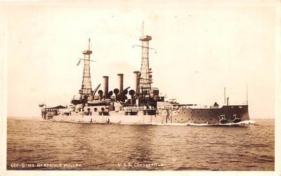 mil051301 - Military Battleship Postcard, Old Vintage Antique Military Ship Post Card