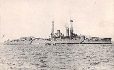 mil051306 - Military Battleship Postcard, Old Vintage Antique Military Ship Post Card