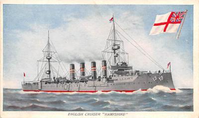 mil051335 - Military Battleship Postcard, Old Vintage Antique Military Ship Post Card