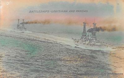 mil051351 - Military Battleship Postcard, Old Vintage Antique Military Ship Post Card