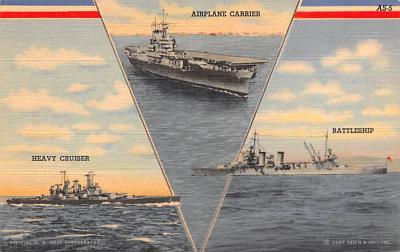 mil051353 - Military Battleship Postcard, Old Vintage Antique Military Ship Post Card