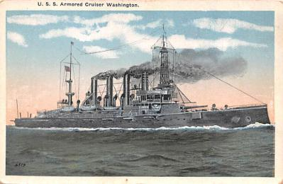mil051370 - Military Battleship Postcard, Old Vintage Antique Military Ship Post Card