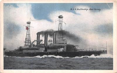 mil051371 - Military Battleship Postcard, Old Vintage Antique Military Ship Post Card