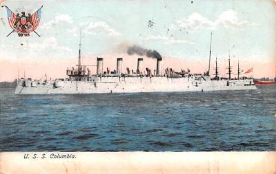mil051374 - Military Battleship Postcard, Old Vintage Antique Military Ship Post Card