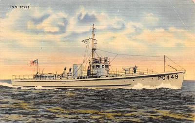 mil051392 - Military Battleship Postcard, Old Vintage Antique Military Ship Post Card