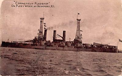 mil051395 - Military Battleship Postcard, Old Vintage Antique Military Ship Post Card