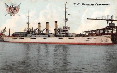 mil051397 - Military Battleship Postcard, Old Vintage Antique Military Ship Post Card