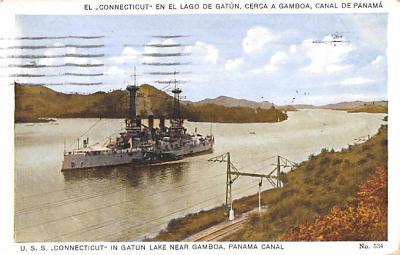 mil051399 - Military Battleship Postcard, Old Vintage Antique Military Ship Post Card
