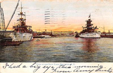 mil051403 - Military Battleship Postcard, Old Vintage Antique Military Ship Post Card