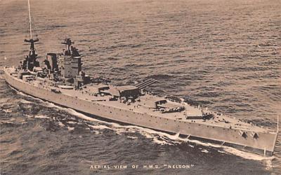mil051405 - Military Battleship Postcard, Old Vintage Antique Military Ship Post Card
