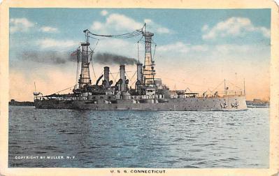 mil051412 - Military Battleship Postcard, Old Vintage Antique Military Ship Post Card