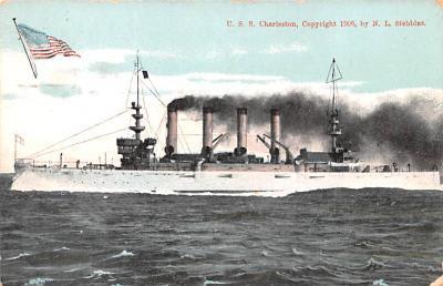 mil051413 - Military Battleship Postcard, Old Vintage Antique Military Ship Post Card