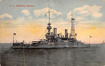 mil051426 - Military Battleship Postcard, Old Vintage Antique Military Ship Post Card