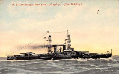 mil051428 - Military Battleship Postcard, Old Vintage Antique Military Ship Post Card
