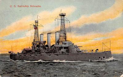 mil051429 - Military Battleship Postcard, Old Vintage Antique Military Ship Post Card