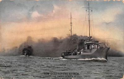 mil051439 - Military Battleship Postcard, Old Vintage Antique Military Ship Post Card