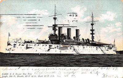 mil051447 - Military Battleship Postcard, Old Vintage Antique Military Ship Post Card