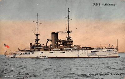 mil051448 - Military Battleship Postcard, Old Vintage Antique Military Ship Post Card