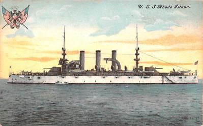 mil051464 - Military Battleship Postcard, Old Vintage Antique Military Ship Post Card