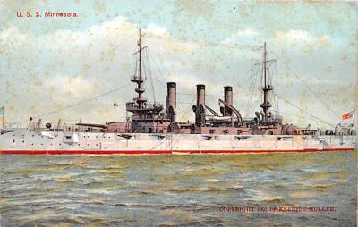 mil051477 - Military Battleship Postcard, Old Vintage Antique Military Ship Post Card