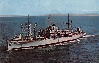 mil051491 - Military Battleship Postcard, Old Vintage Antique Military Ship Post Card