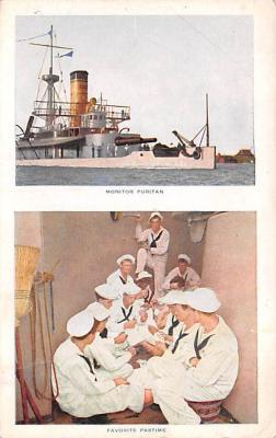 mil051496 - Military Battleship Postcard, Old Vintage Antique Military Ship Post Card