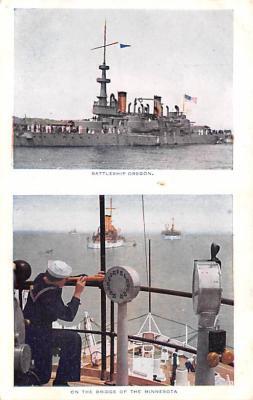 mil051507 - Military Battleship Postcard, Old Vintage Antique Military Ship Post Card