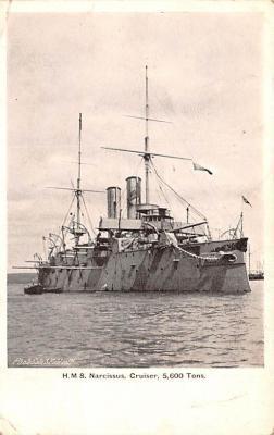 mil051518 - Military Battleship Postcard, Old Vintage Antique Military Ship Post Card