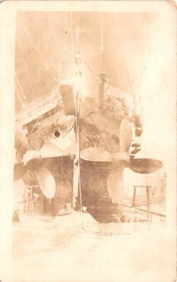 mil051520 - Military Battleship Postcard, Old Vintage Antique Military Ship Post Card
