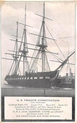 mil051523 - Military Battleship Postcard, Old Vintage Antique Military Ship Post Card