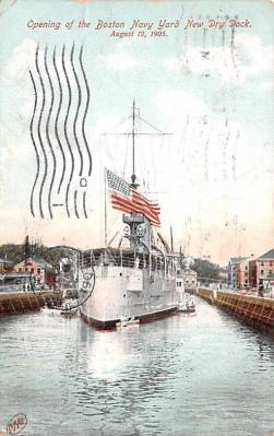 mil051525 - Military Battleship Postcard, Old Vintage Antique Military Ship Post Card