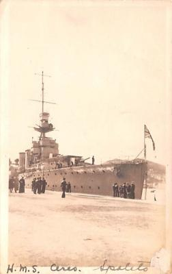 mil051528 - Military Battleship Postcard, Old Vintage Antique Military Ship Post Card