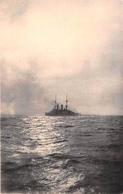 mil051531 - Military Battleship Postcard, Old Vintage Antique Military Ship Post Card
