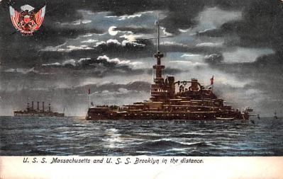 mil051556 - Military Battleship Postcard, Old Vintage Antique Military Ship Post Card