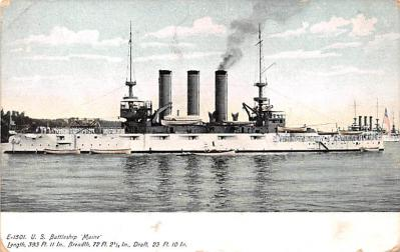 mil051559 - Military Battleship Postcard, Old Vintage Antique Military Ship Post Card