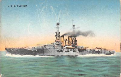 mil051564 - Military Battleship Postcard, Old Vintage Antique Military Ship Post Card