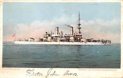 mil051565 - Military Battleship Postcard, Old Vintage Antique Military Ship Post Card
