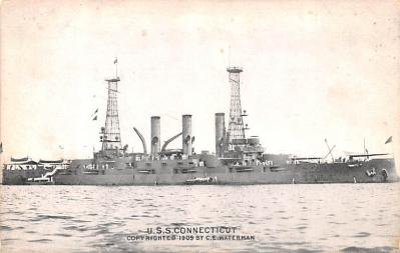 mil051572 - Military Battleship Postcard, Old Vintage Antique Military Ship Post Card