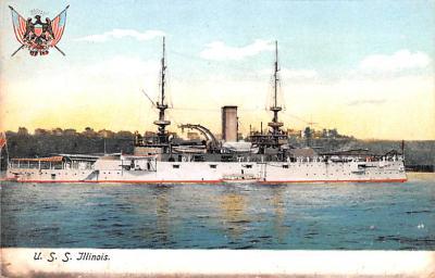 mil051577 - Military Battleship Postcard, Old Vintage Antique Military Ship Post Card