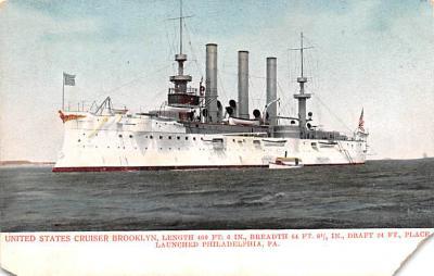 mil051585 - Military Battleship Postcard, Old Vintage Antique Military Ship Post Card