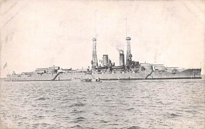 mil051591 - Military Battleship Postcard, Old Vintage Antique Military Ship Post Card