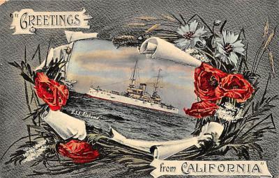 mil051593 - Military Battleship Postcard, Old Vintage Antique Military Ship Post Card