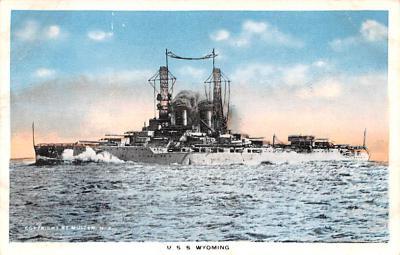 mil051600 - Military Battleship Postcard, Old Vintage Antique Military Ship Post Card