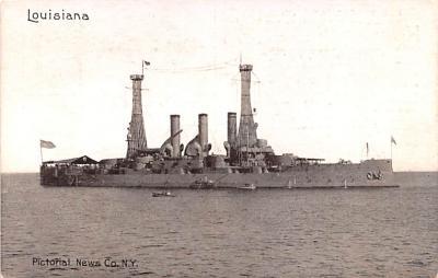 mil051603 - Military Battleship Postcard, Old Vintage Antique Military Ship Post Card