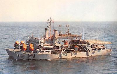 mil051607 - Military Battleship Postcard, Old Vintage Antique Military Ship Post Card