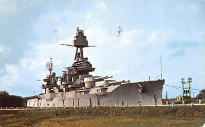 mil051609 - Military Battleship Postcard, Old Vintage Antique Military Ship Post Card