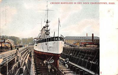 mil051610 - Military Battleship Postcard, Old Vintage Antique Military Ship Post Card