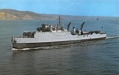 mil051617 - Military Battleship Postcard, Old Vintage Antique Military Ship Post Card