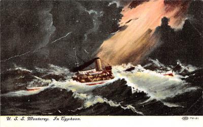 mil051627 - Military Battleship Postcard, Old Vintage Antique Military Ship Post Card